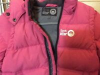 Spotty Otter Down Puffer Jacket PINK 3-4 years