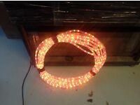 18m multi coloured rope light