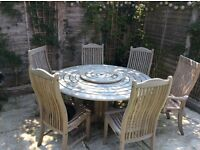 Alexander rose garden table and chairs