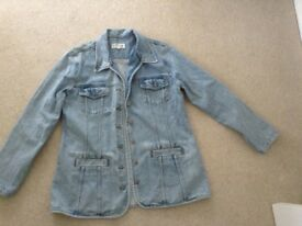 Denim hip length jacket
