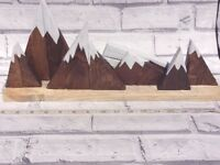 Mountain shelf ornament