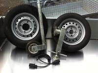 Trailer jockey wheel ifor Williams plant trailer flat bed trailer car transporters tipper trailer