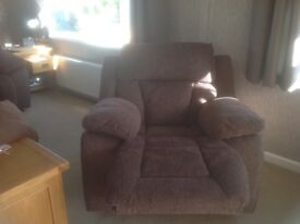 2seater reclining sofa and reclining rocker chair