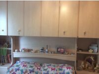 Sell overbed complete : include overbed unit 240sm,corner mirror robe 40sm,3 door wardrobe 160sm.