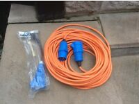 New 25mtr caravan mains site electric hook up