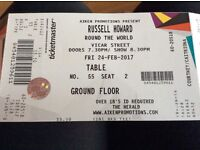 Russell Howard Round the World Tickets, Vicar Street Dublin