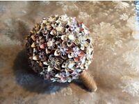 Beautiful handmade kusudama bridal bouquet