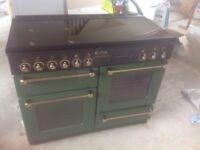 Green and gold Rangemaster 1100