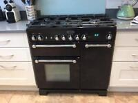 Black Rangemaster gas cooker