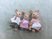 Sylvanian family of three kangaroos