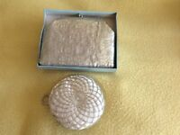 2 silver evening bags, clean, good condition from the 1960's/1970's