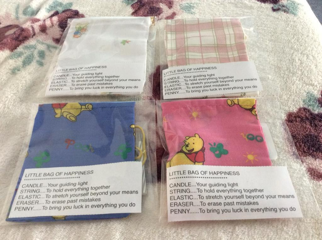 job lot of 50 little bags of happiness gift bags and contents in