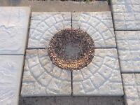 Cobble open circle 450x450x35mm concrete slabs