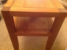 Solid oak new small table