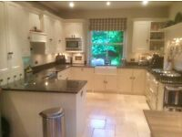 complete large excellent painted kitchen - all cabinets and marble top - buyer collects units
