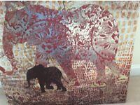 Elephant canvas paintings