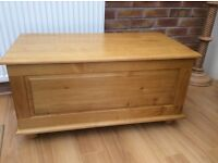 Solid Pine Blanket Box, New & Boxed.
