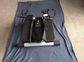 An aerobic stepping machine with digital monitor