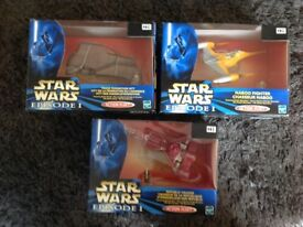 Star Wars episode 1 action fleet trio