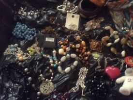 Selection of costume jewellery and accessories