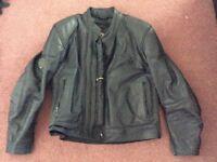 Frank Thomas leather bike jacket