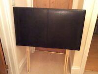 Single bed headboard black leather look