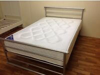 SMALL DOUBLE 4 FT BED WITH ORTHO MATTRESS