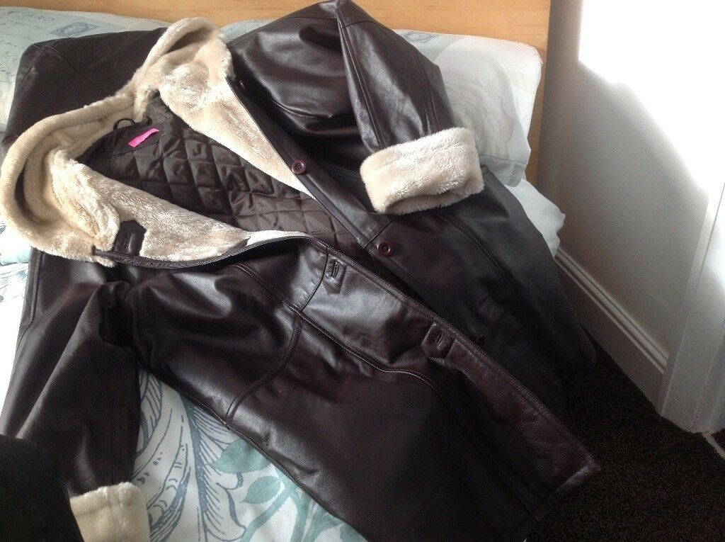 Leather Coats - 3 for sale beautiful condition 2 size 16 1 size 14