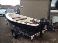 12ft fishing boat and trailer