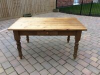 Antique pine dinning table