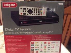 Digital TV receiver views up to 48 channels , listen to 24 radio stations.