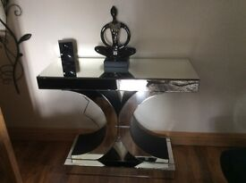 Mirrored furniture. Sideboard coffe table and console table all mirrored