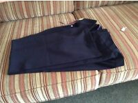 Ladies navy trousers bootleg
