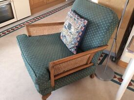 3 piece suite, 1930's Bergere, restoration project, needs reupholstered and recaned