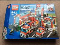 Lego city fire station and vehicles