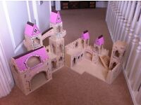 Melissa and Doug Wooden Folding Princess Castle With Drawbridge and Turrets