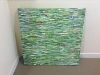 Canvas painting textured