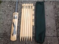 Slazenger Unused Cricket Set - High Quality Bat, Stumps and Bails