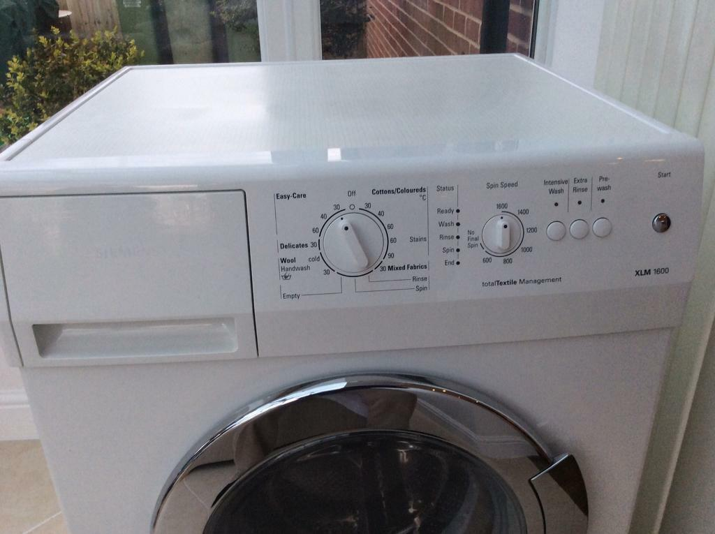 Siemens washing machine XLM1600in Fareham, HampshireGumtree - Freestanding high specification white 600 mm wide Siemens washing machine XLM1600 for sale, that will fit under a standard kitchen worktop. Unit in full working order but is no longer required as new kitchen has been fitted with integrated units....