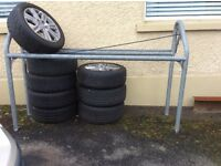 Tyre rack for trailer for sale