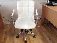 3 swivel leather styled office chairs available