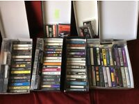 Approx 100 cassette audiobtapes from 1970's all music i.e. Thin Lizzy, Rollong Stones etc