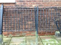 Galvanised steel fence and gate