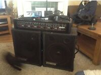 Carlsbro Marlin 6 150 111 pa and speakers an accesories