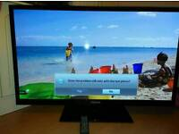 Samsung 51 inch HDReady slim TV with USB port and Freeview