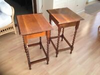 Two Oak Occasional Tables