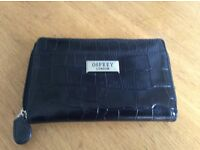 OSPREY OF LONDON real leather black purse