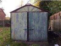 Old metal garage
