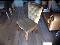 Louis antique upholstered chair bedroom dining wooden
