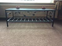 FREE Black chrome & glass Coffee table